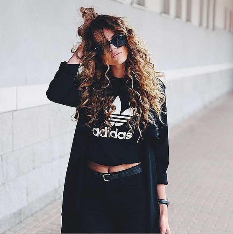 Sporty-Top-Black-Belted-Jeans-Long-Black-Coat
