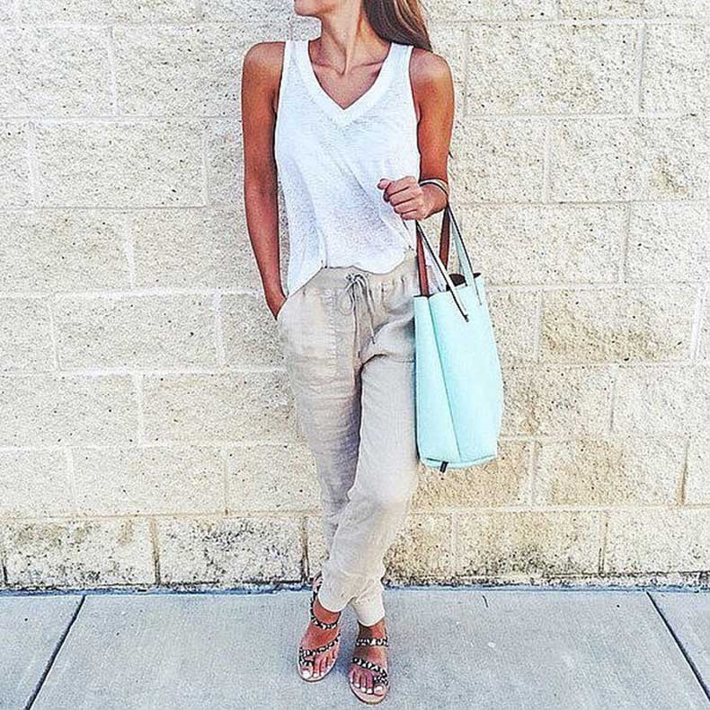 White-Tee-Slouchy-Pants-Sandals