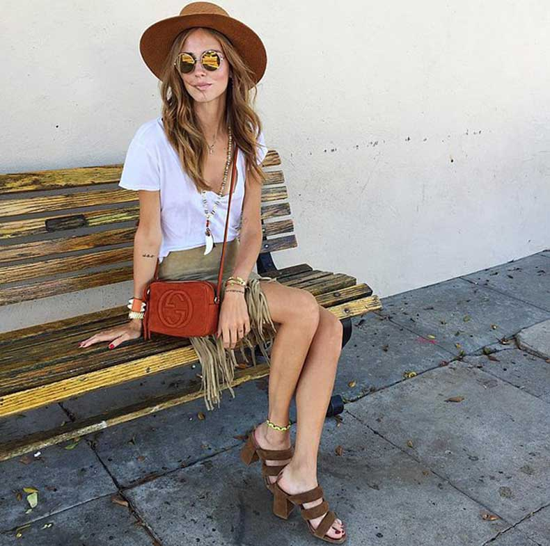 White-Tee-While-Accessorizing-Other-Shades-Brown