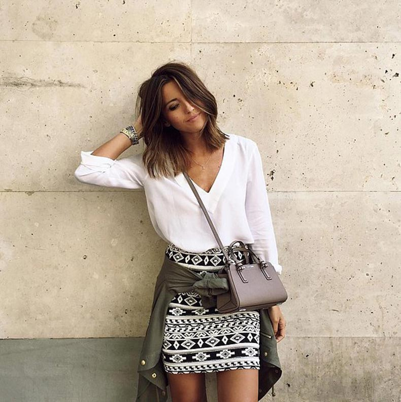 White-Top-Printed-Skirt