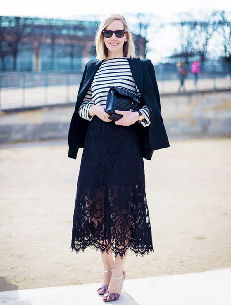 black-lace-midi-skirt-jacket-on-shoudlers-striped-tee-stripes-spring-work-classic-preppy-jane-keltner-editor-style-via-vanessajackman