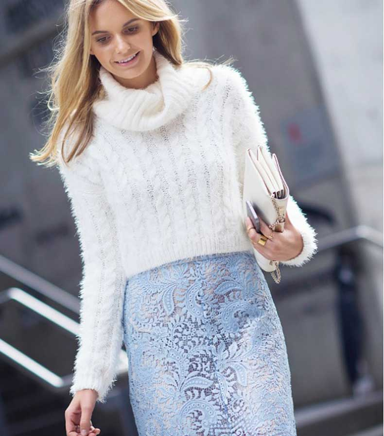 pastel-blue-lace-pencil-skirt-turtleneck-sweter-sheer-work-giong-out-spring-via-le21eme