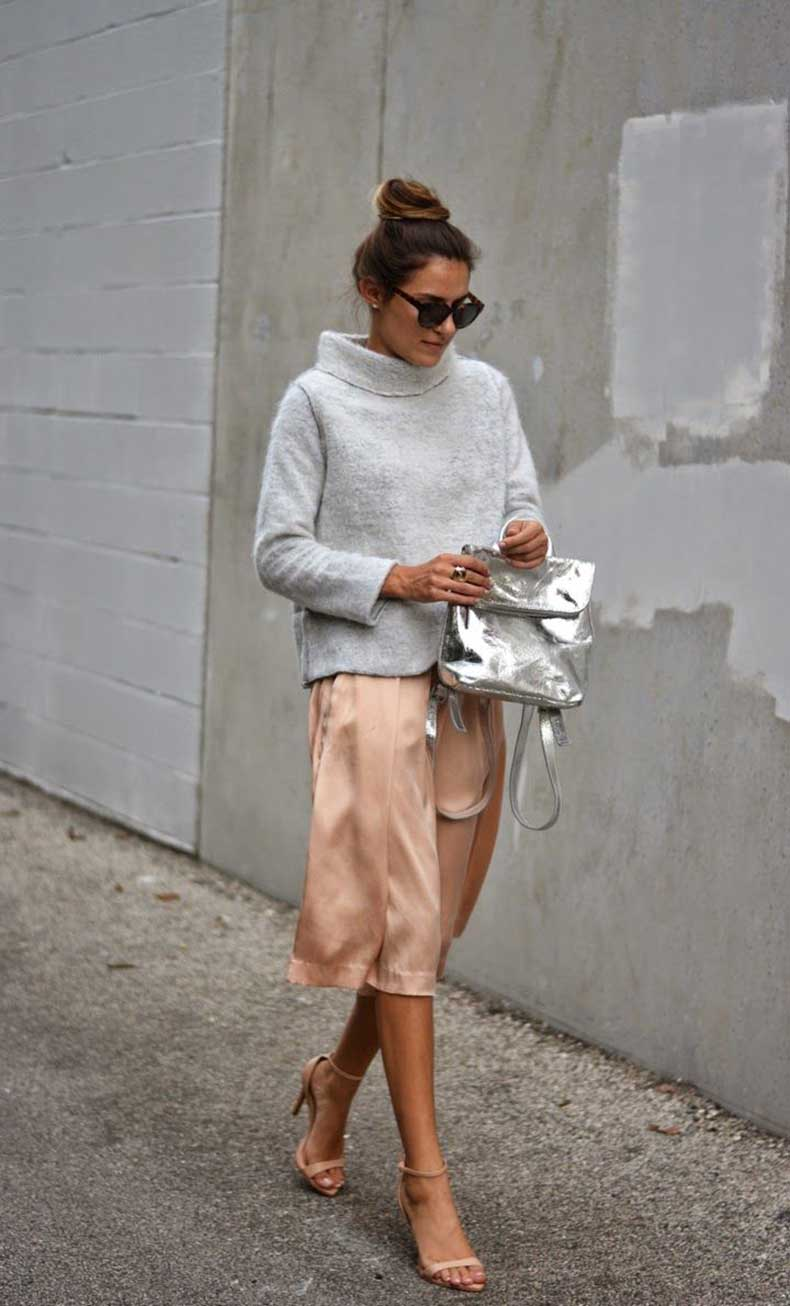 silk-culottes-and-thick-sweater