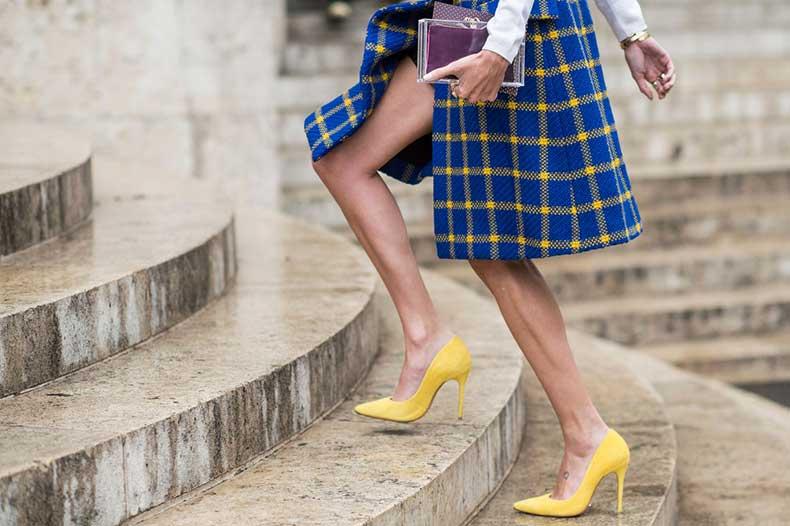 04-bright-yellow-high-heels-plaid-skirt-street-style-main
