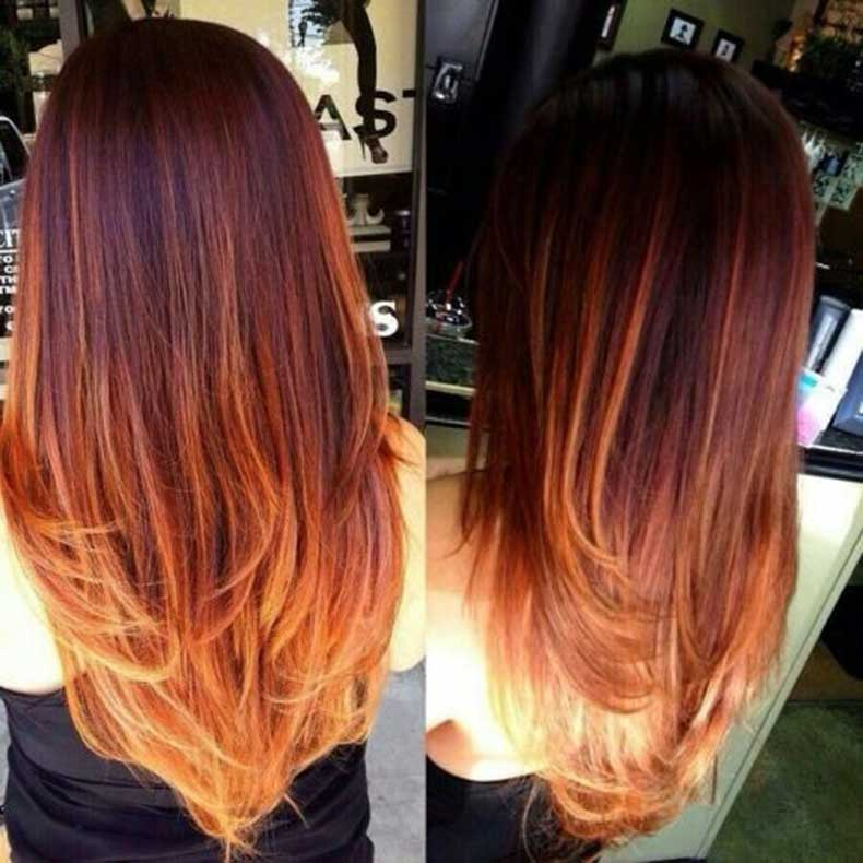 Brown-to-Red-Ombre-Long-Hair