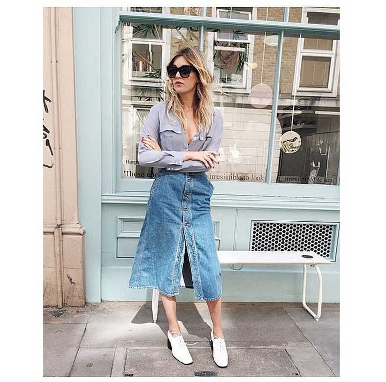 Button-Front-Midi-Skirt