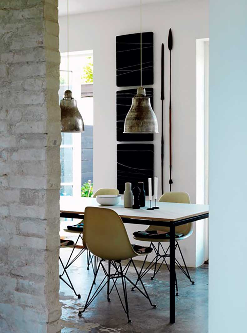 Dining-Room-in-Danish-Loft-with-Eames-Eiffel-Chairs,-Remodelista