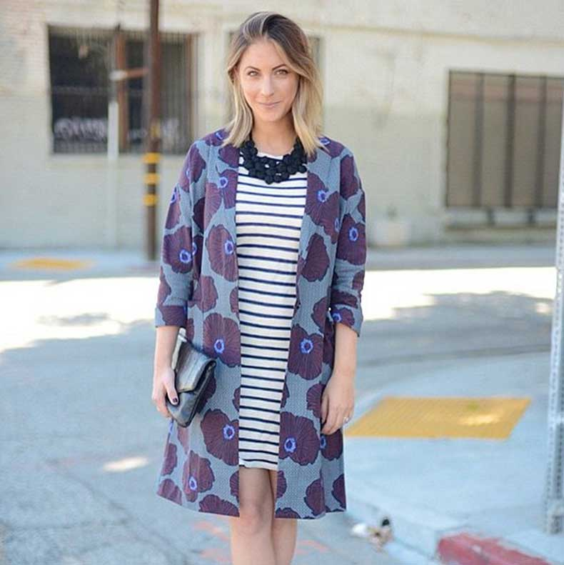 Graphic-Coat-Striped-Dress-Statement-Necklace