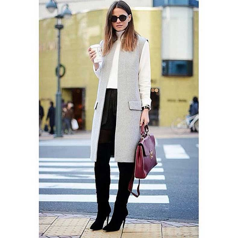 Knee-High-Boots-Long-Sleeved-Top-Duster-Vest