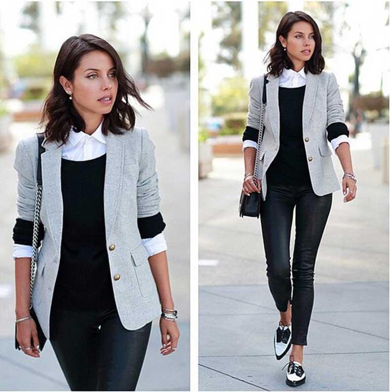 Layered-Button-Down-Sweater-Blazer
