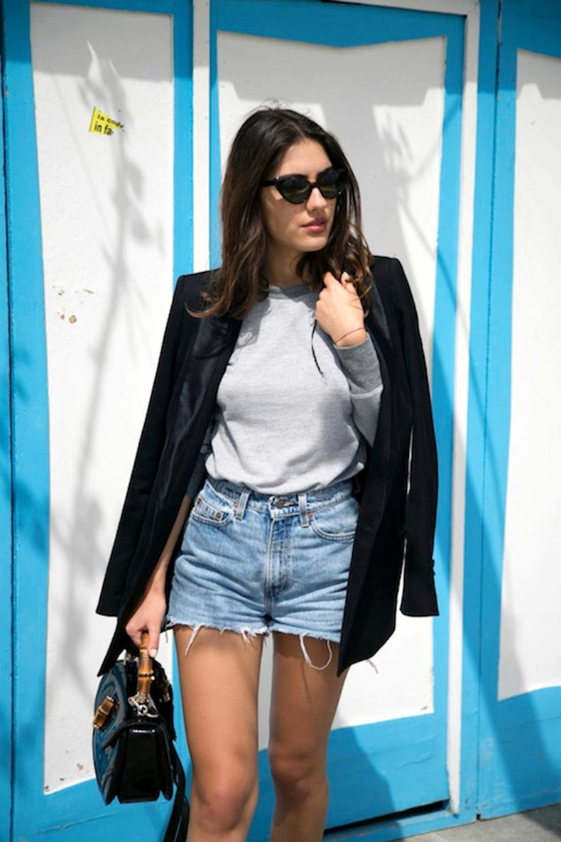 Le-Fashion-Blog-Cat-Eye-Sunglasses-Cut-Off-Shorts-Tuxedo-Jacket-Gucci-Bamboo-Bag-Via-Patricia-The-Atelier