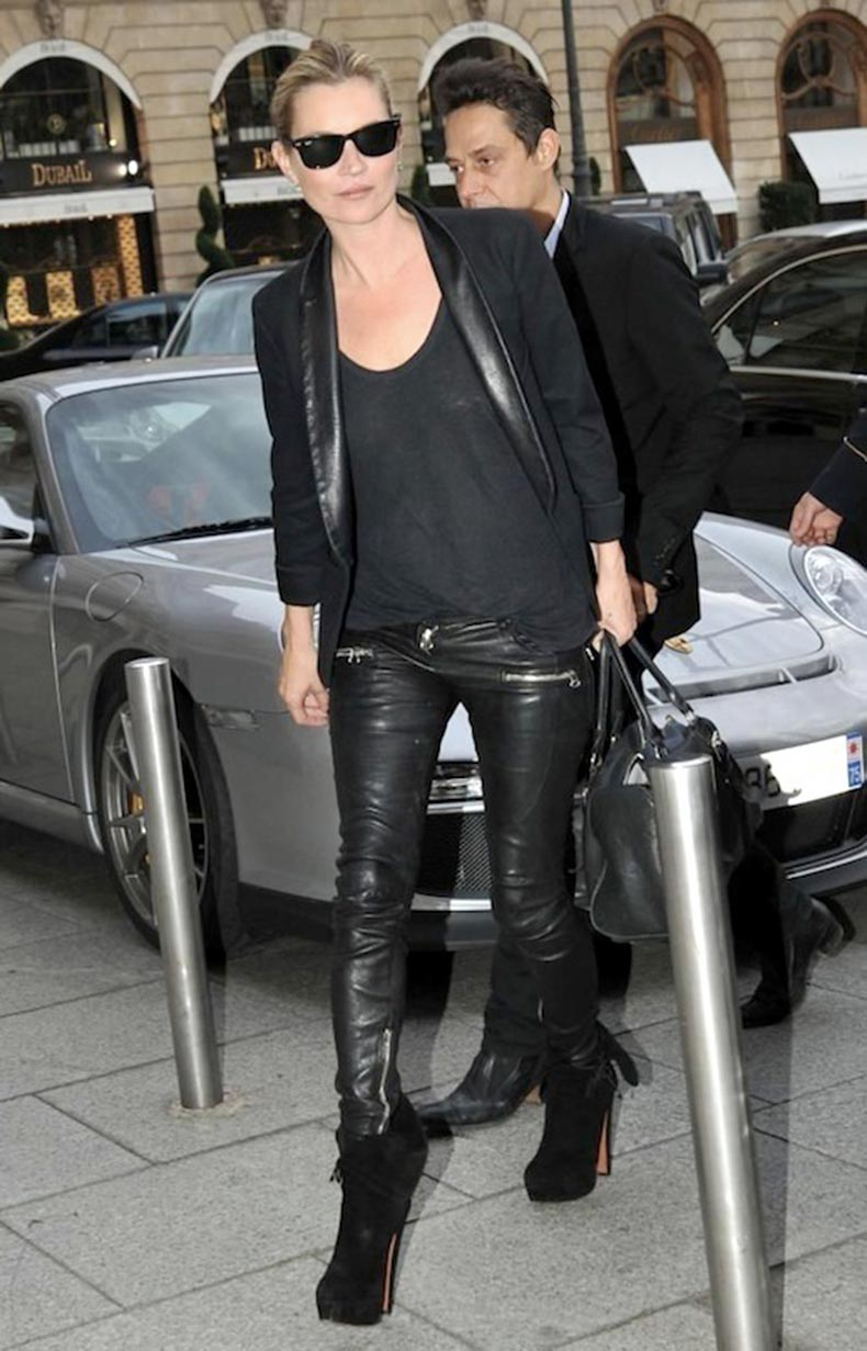 Le-Fashion-Blog-How-To-Get-Kate-Moss-Signature-Off-Duty-Look-Black-Blazer-Leather-Pants-Platform-BootsVia-Popsugar