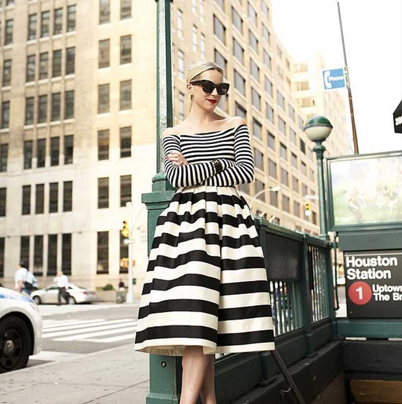 Mismatched-Striped-Top-Skirt