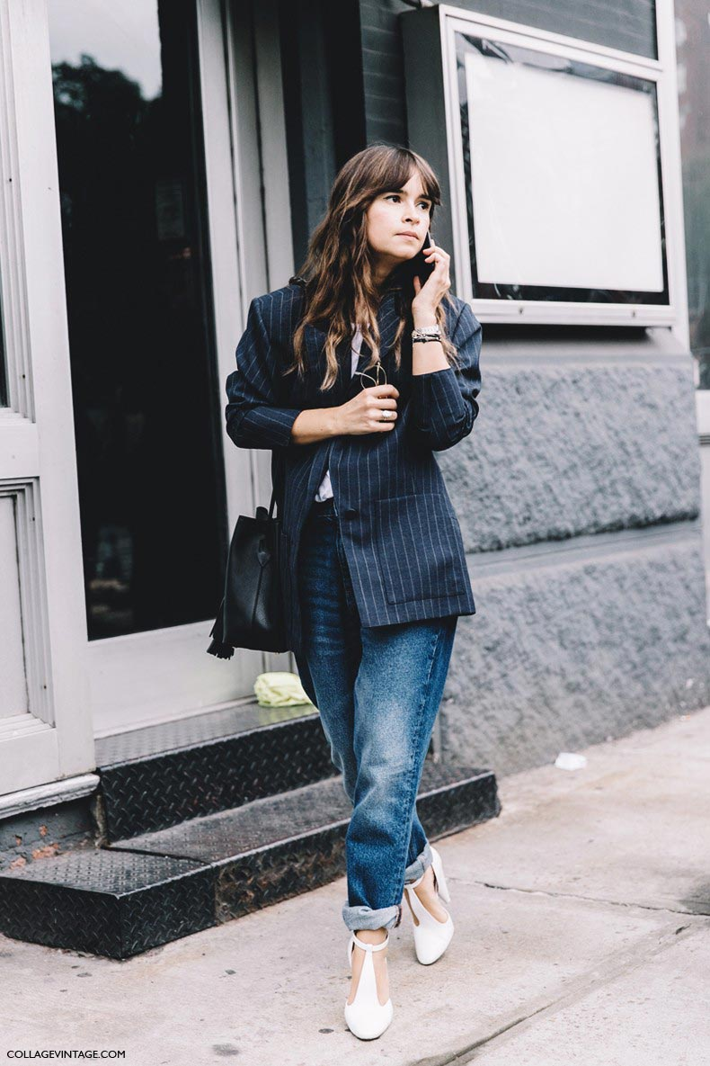 New_York_Fashion_Week-Spring_Summer-2016-Street-Style-Miroslava_Duma-Tango_Shoes-Striped_Blazer-Jeans--790x1185