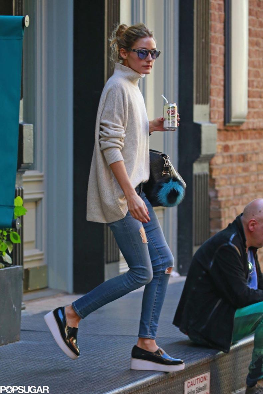 Olivia-Palermo-Wearing-Turtleneck-Jeans