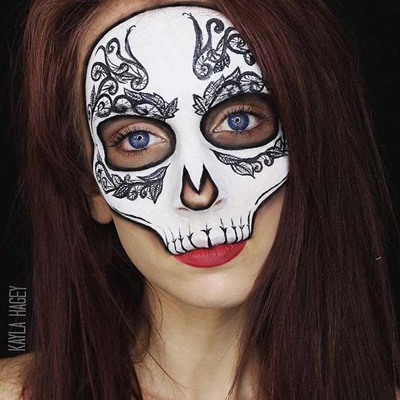 Skeleton-Makeup
