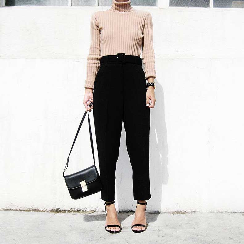 Sweater-Loose-Trousers-Heels