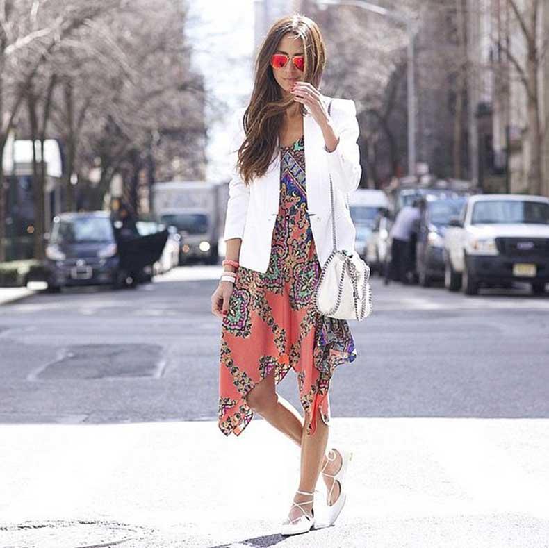 White-Blazer-Over-Bold-Dress