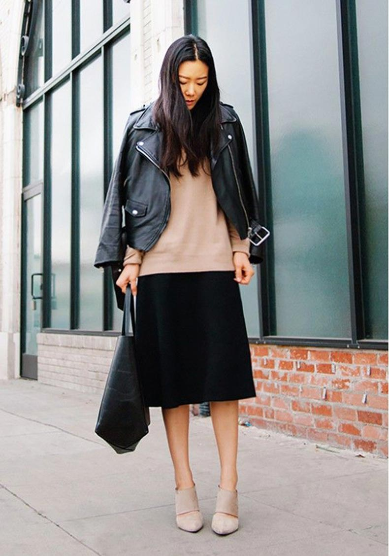 black-midi-skirt-black-leather-moto-jacket-black-tote-nude-heels-via-whowhatwear
