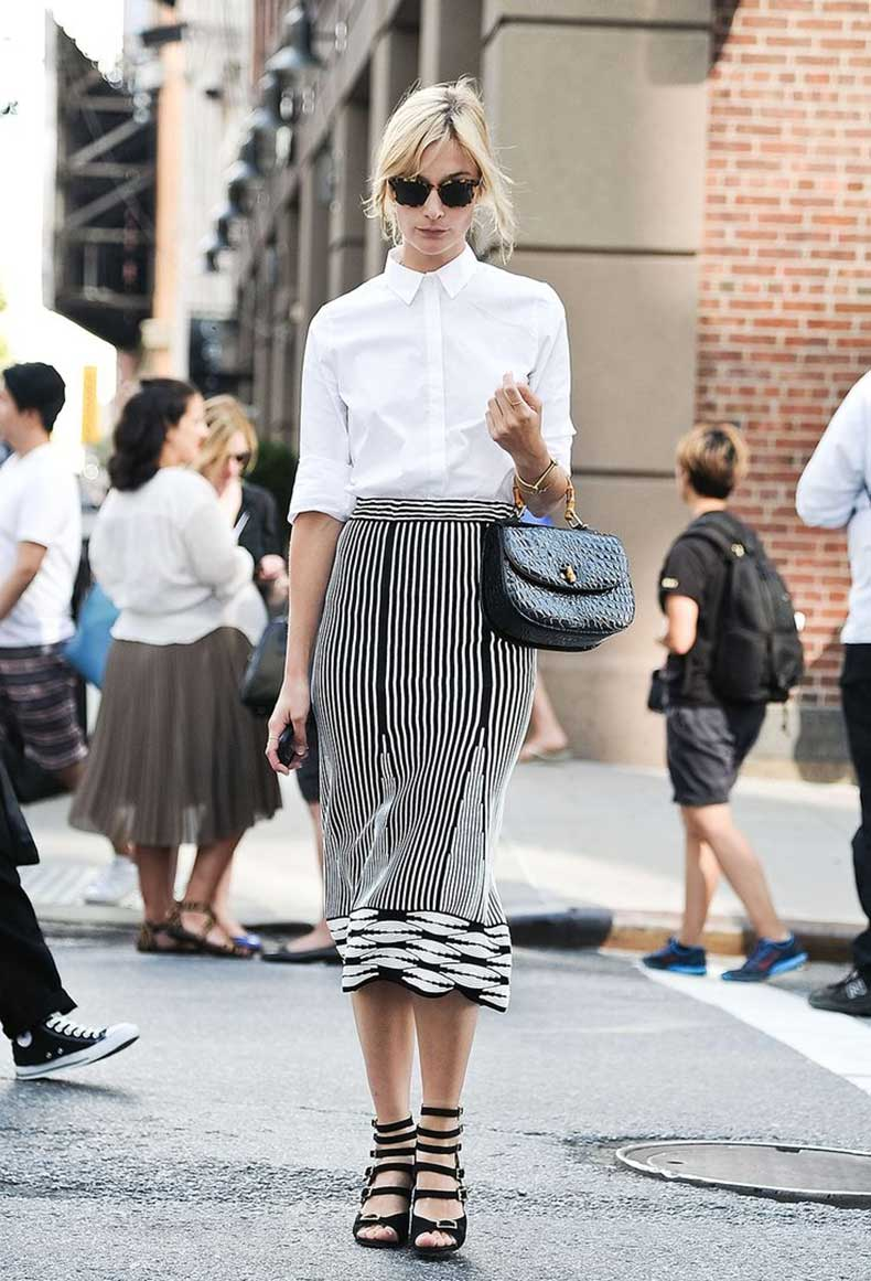 ling-fluted-skirt-and-white-button-up-shirt