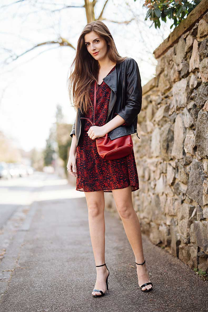red-summer-dress-leather-jacket-1