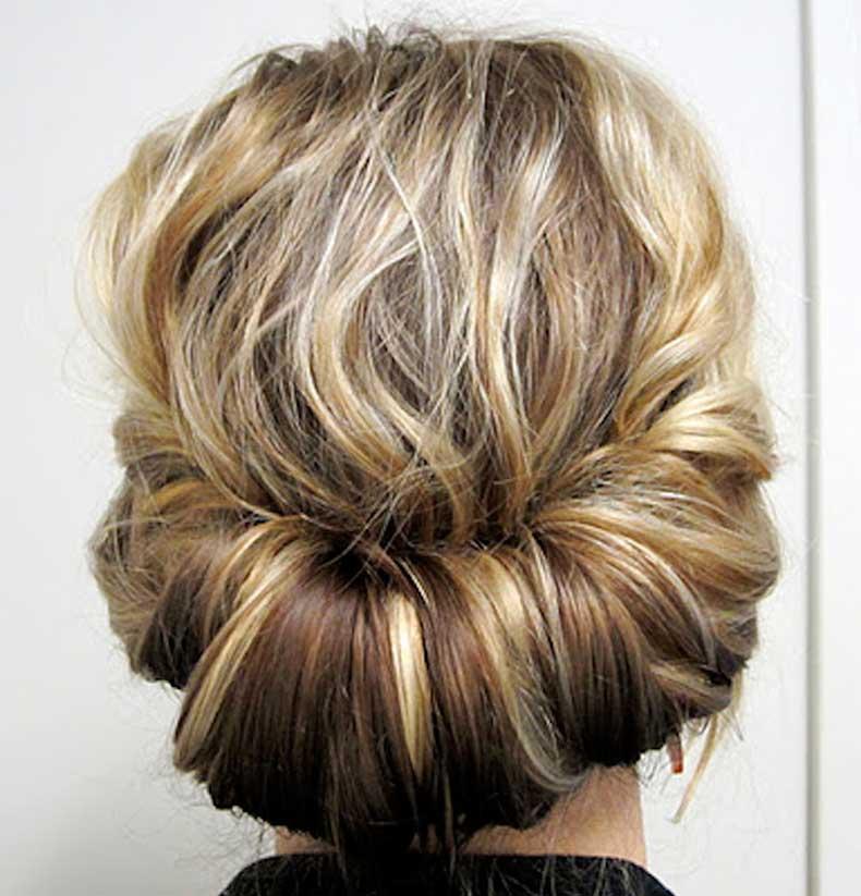 short-hair-chignon