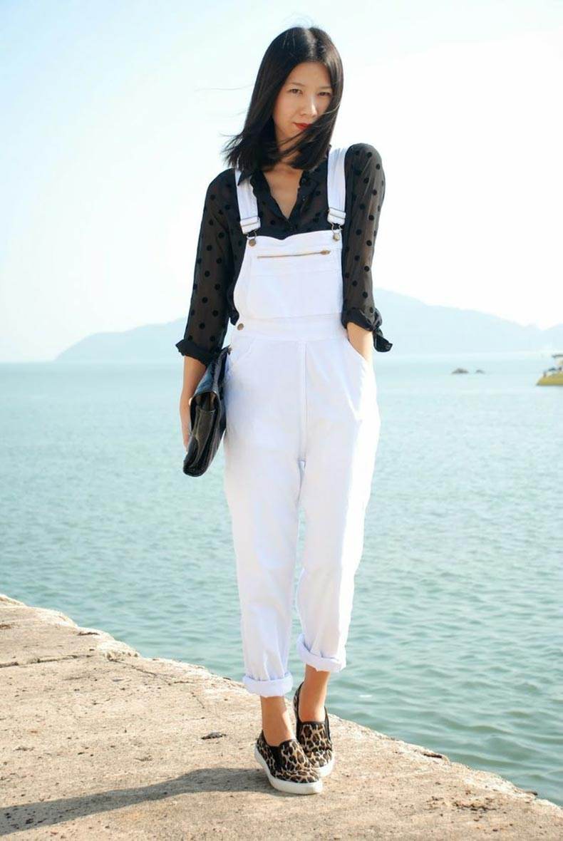 white-dungarees-and-black-shirt