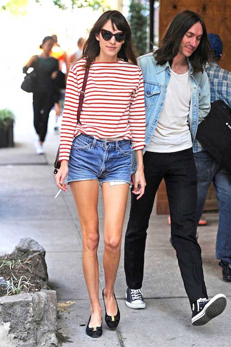 1-Le-Fashion-Blog-40-Of-Alexa-Chung-Best-Looks-With-Denim-Shorts-Cat-Eye-Sunglasses-Red-Striped-Tee-Jean-Cut-Offs-Via-Vogue-UK