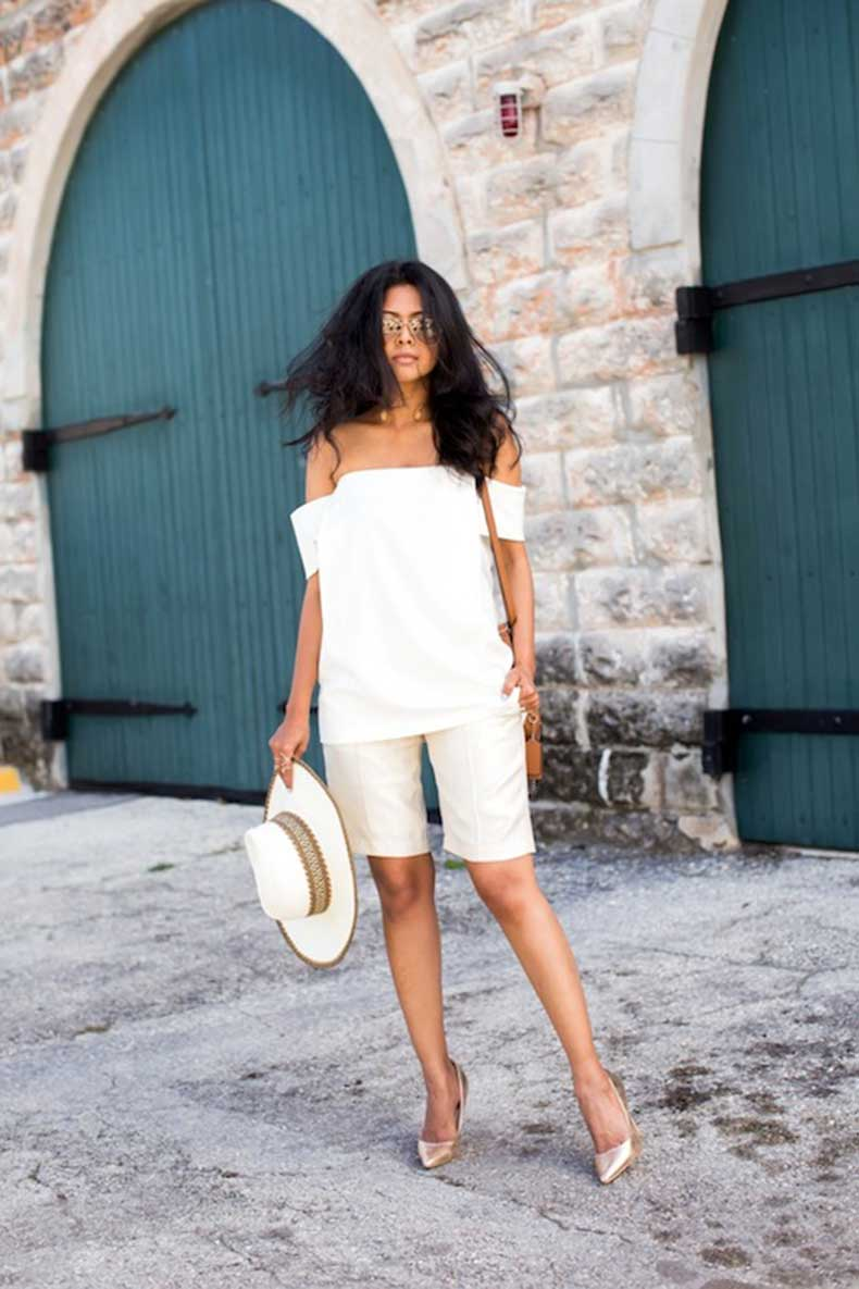 11-Le-Fashion-31-Stylish-Ways-To-Wear-An-Off-The-Shoulder-Look-White-Top-Bermuda-Shorts-Via-Walk-In-Wonderland