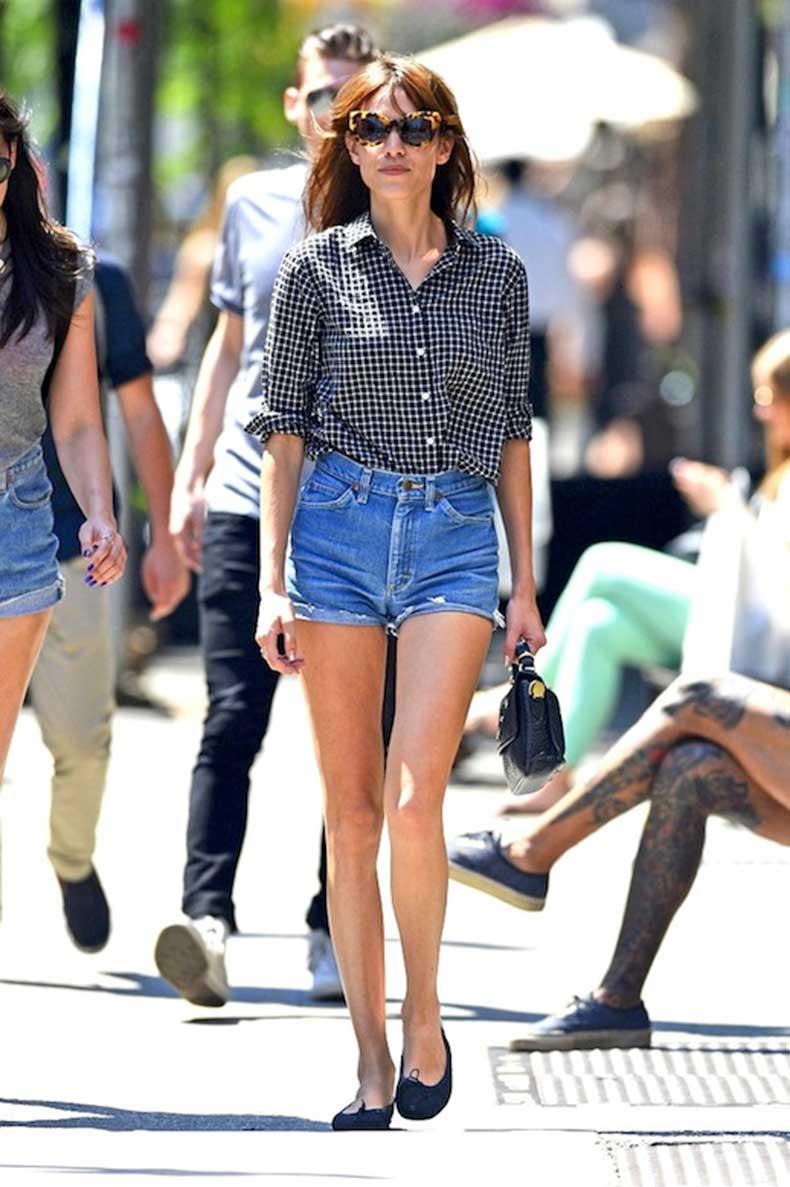 15-Le-Fashion-Blog-40-Of-Alexa-Chung-Best-Looks-With-Denim-Shorts-Cat-Eye-Sunglasses-Grid-Print-Button-Down-Shirt-Jean-Cut-Offs-Ballet-Flats-Via-Zimbio