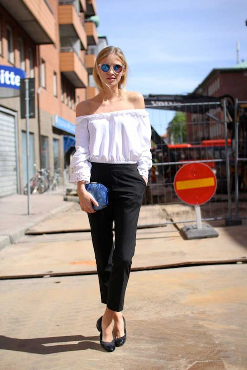 20-Le-Fashion-31-Stylish-Ways-To-Wear-An-Off-The-Shoulder-Look-White-Top-Jeans-Via-The-Fashion-Eaters