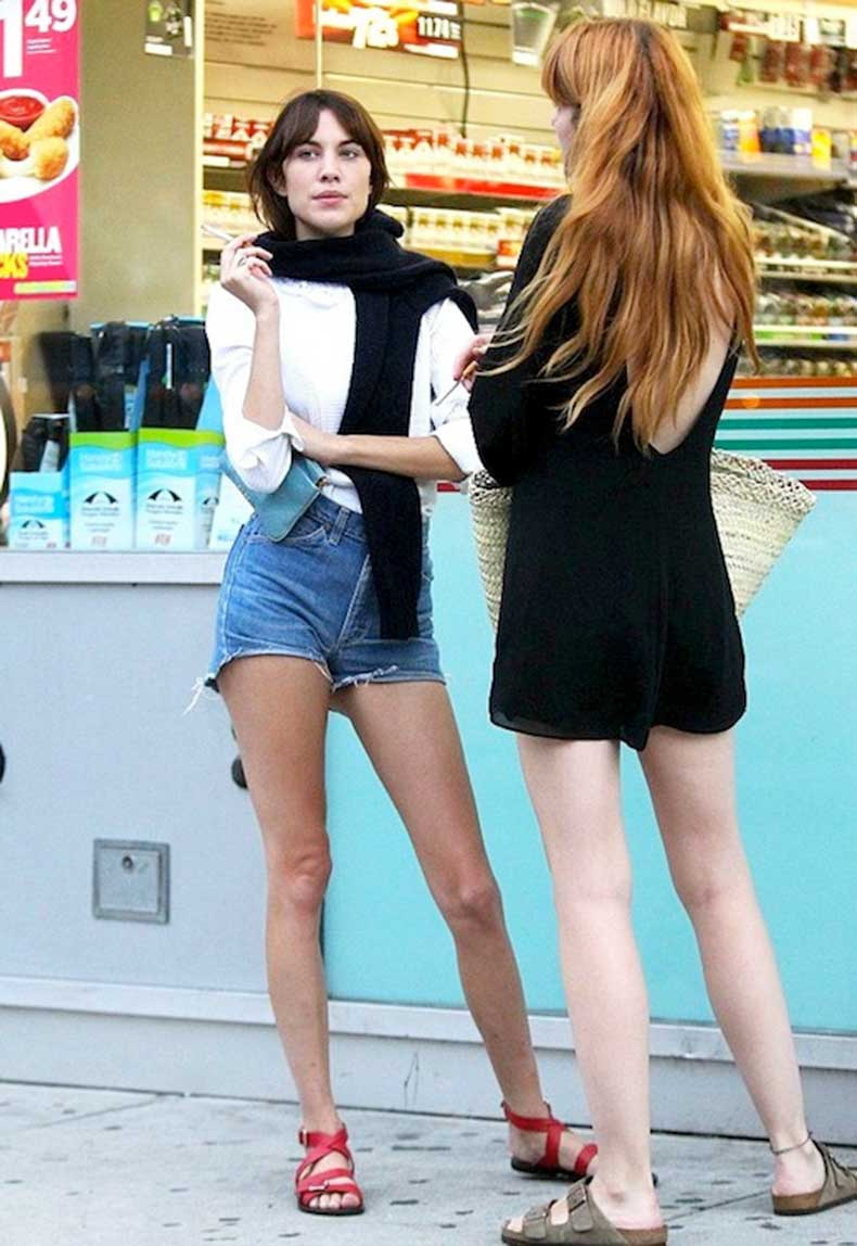 22-Le-Fashion-Blog-40-Of-Alexa-Chung-Best-Looks-With-Denim-Shorts-White-Top-Red-Strappy-Sandals-Jean-Cut-Offs-Via-Daily-Mail-UK
