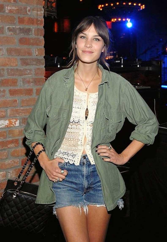 30-Le-Fashion-Blog-40-Of-Alexa-Chung-Best-Looks-With-Denim-Shorts-Green-Army-Jacket-Crochet-Top-Jean-Cut-Offs-Via-Popsugar
