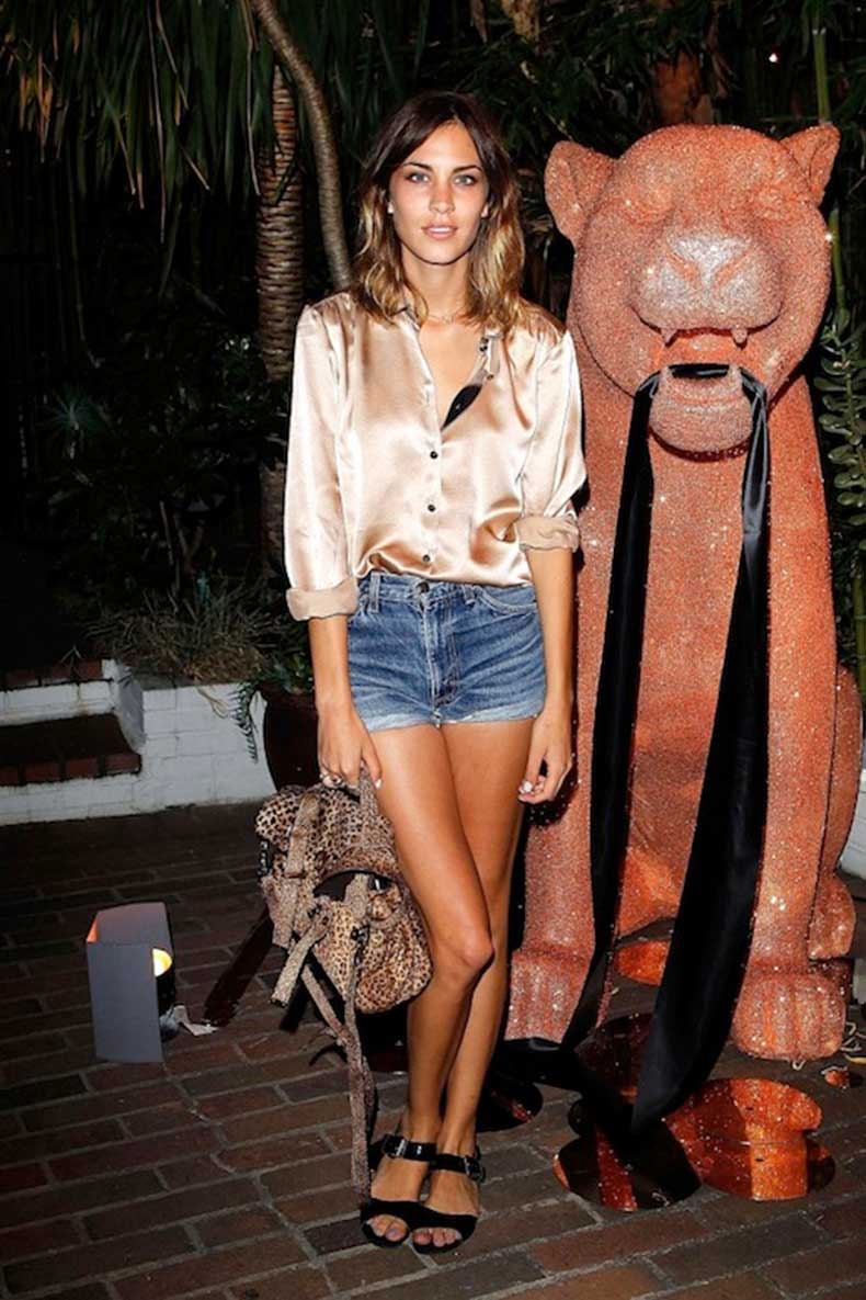 33-Le-Fashion-Blog-40-Of-Alexa-Chung-Best-Looks-With-Denim-Shorts-Pink-Satin-Button-Down-Mulberry-Cheetah-Print-Bag-Jean-Cut-Offs-Sandals-Via-Metro-UK