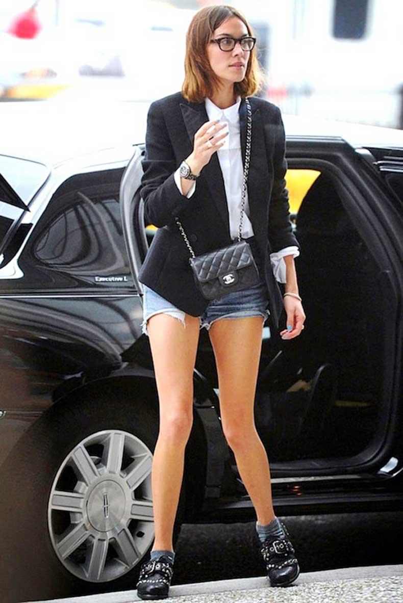 40-Le-Fashion-Blog-40-Of-Alexa-Chung-Best-Looks-With-Denim-Shorts-Glasses-Tux-Jacket-Chanel-Bag-Jean-Cut-Offs-Via-Elle-UK