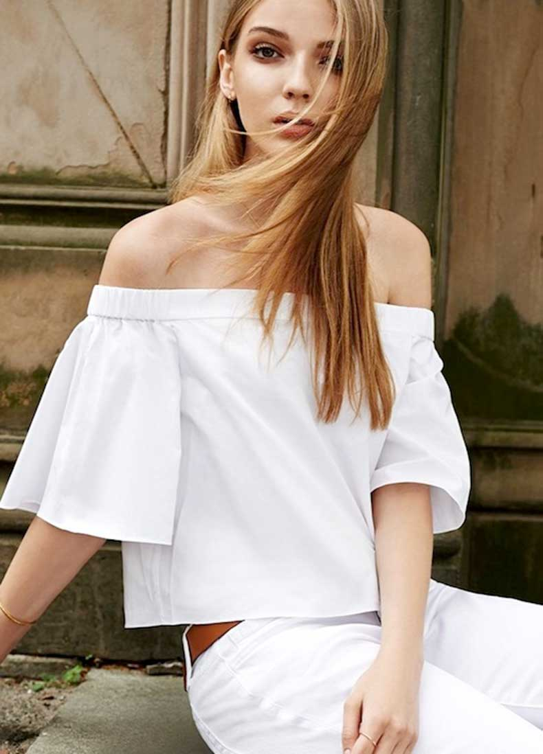 6-Le-Fashion-31-Stylish-Ways-To-Wear-An-Off-The-Shoulder-Look-Tibi-Short-Sleeve-Top-White-Jeans-Shopbop-Lookbook