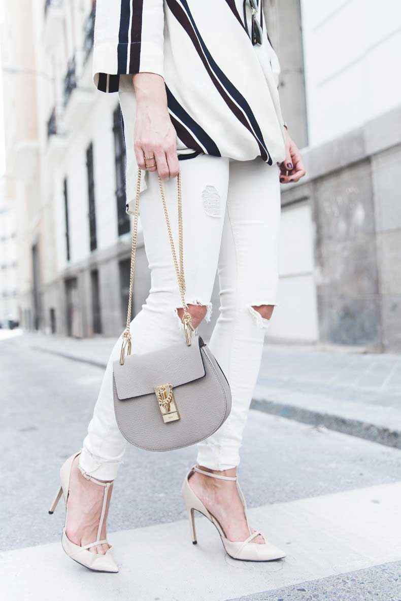 Denim_Jacket_Uterque-Striped_Blouse-Lace_Top-White_Ripped_JEans-Drew_Bag-Chloe-Outfit-Street_style-23-790x1185