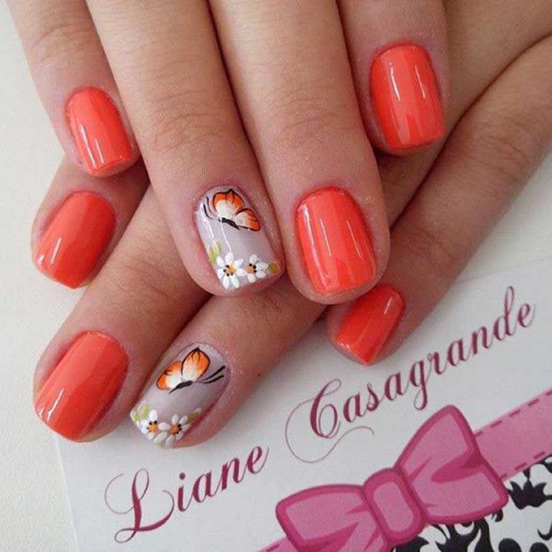 Orange-and-butterfly-nial-art-for-summer-23