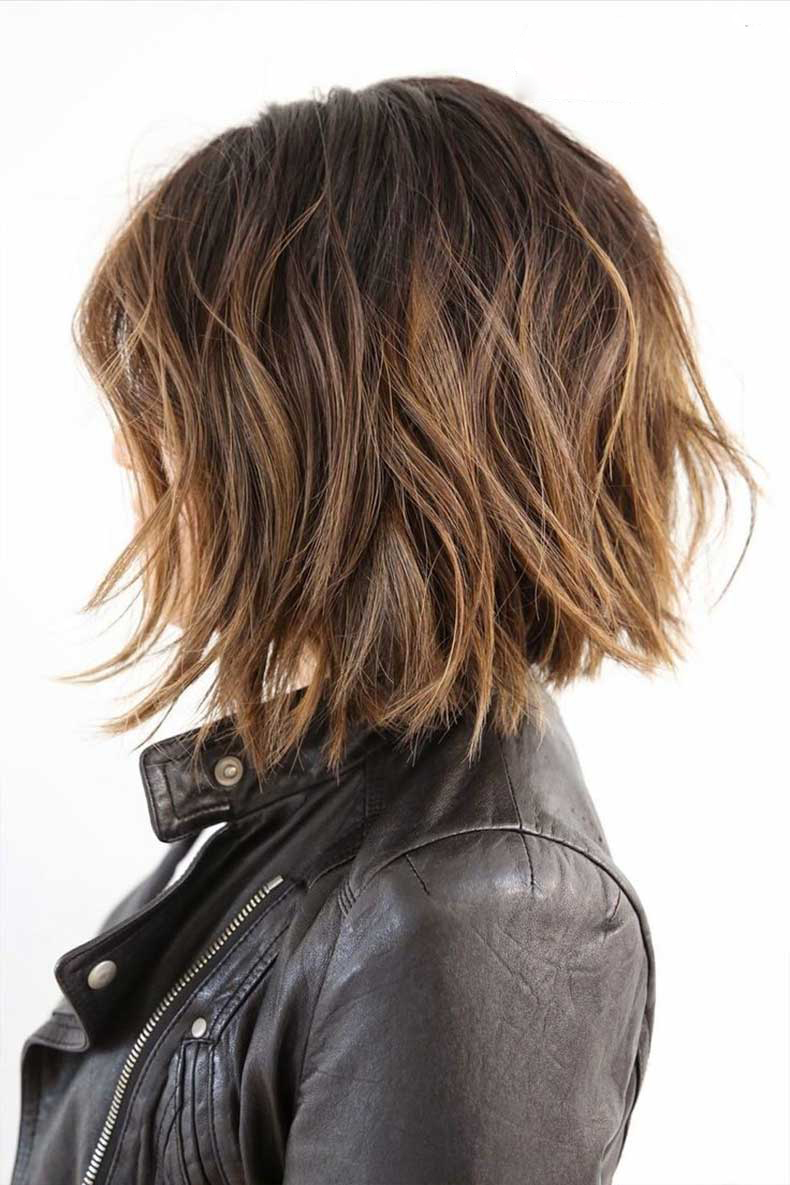 Textured-Bob-with-Highlights-Short-Haircuts-for-Thick-Hair-2015