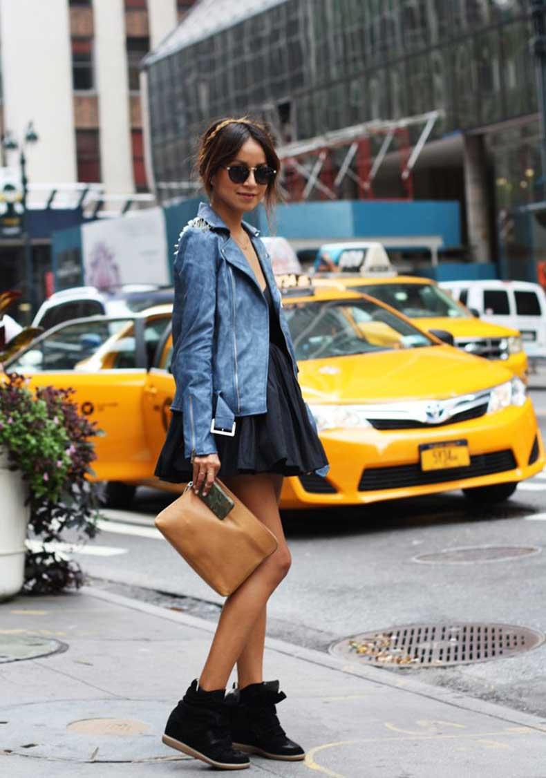 full-skirt-dress-and-sneaker-wedge