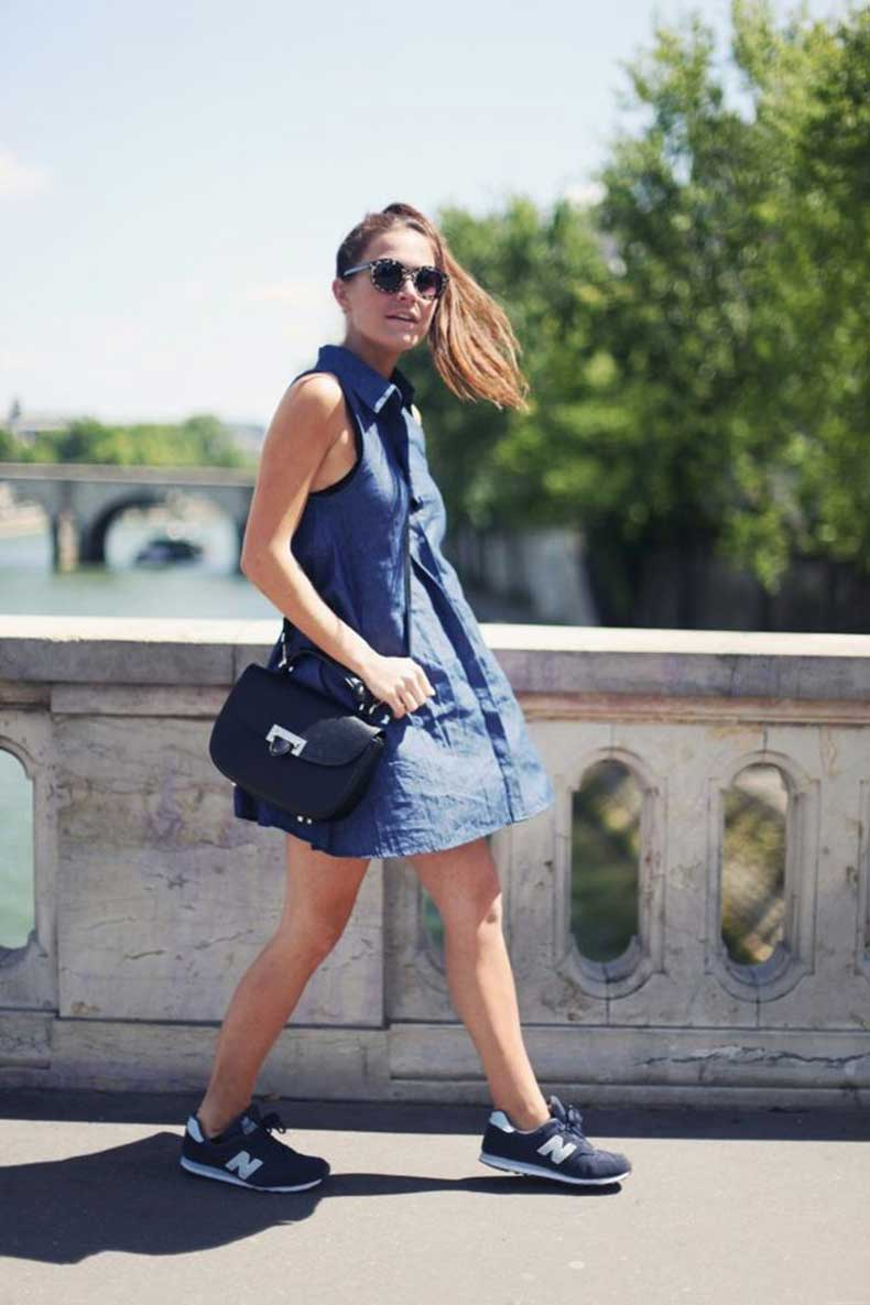 shirt-dress-and-sneakers