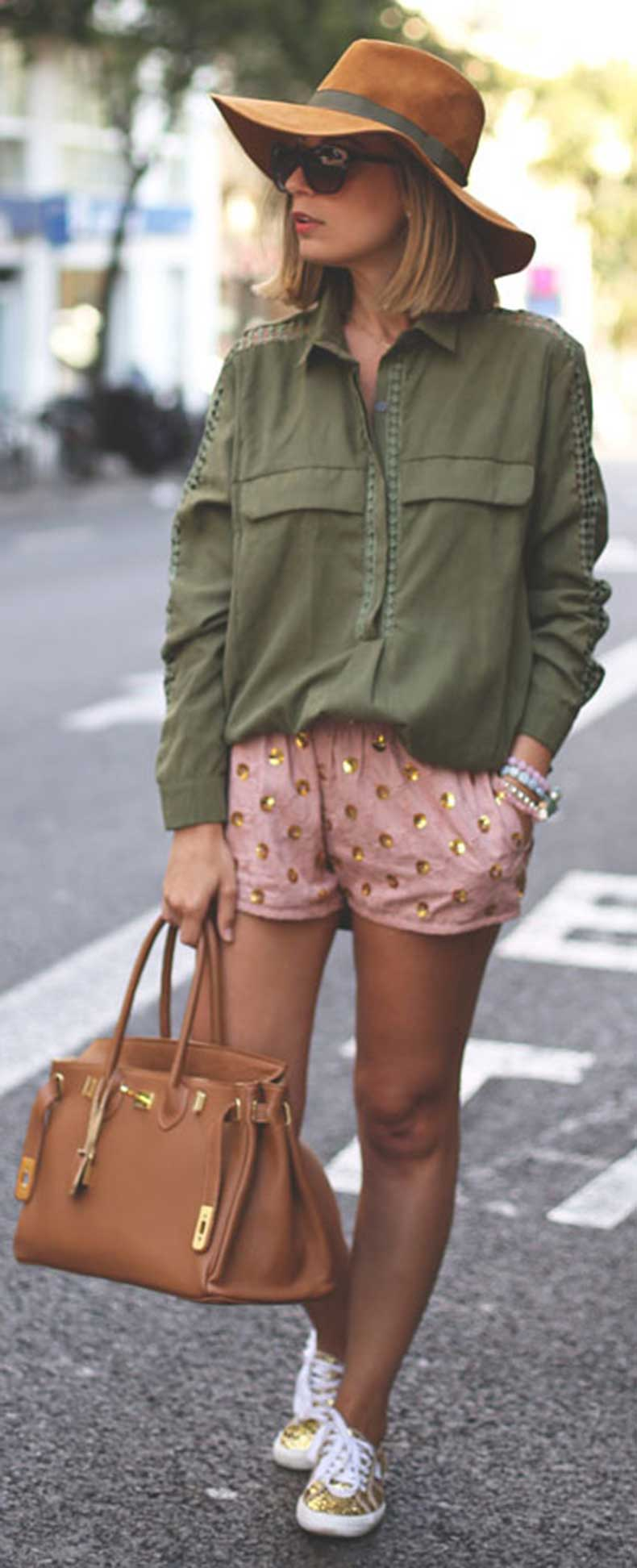 Army-Green-Gold-Sequins-Spring-Outfit