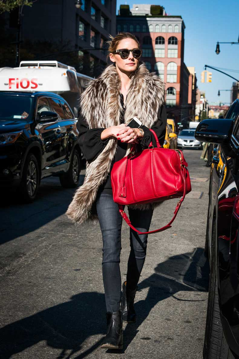 Cherry-Red-Bag-Furry-Stole-All-You-Need-Turn-Heads-Street