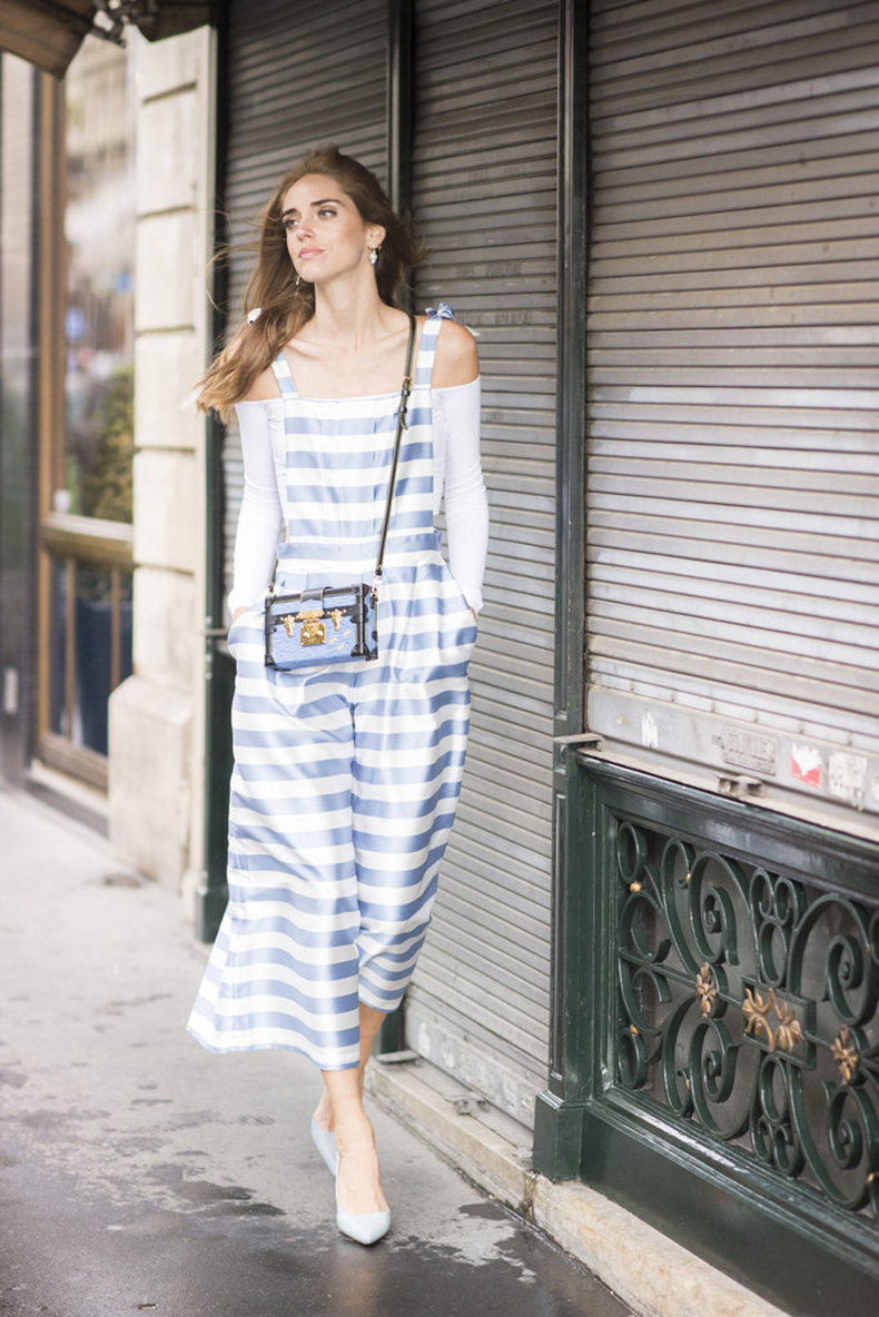 Chiara-Ferragni-caught-our-eye-striped-Vivetta-overalls-Celine