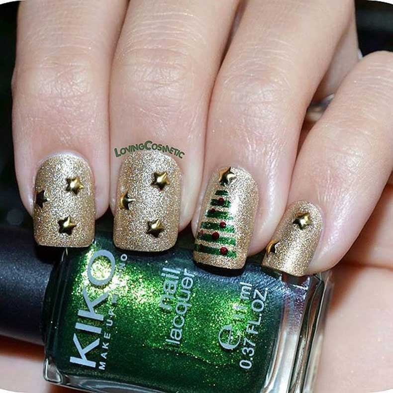 Gold-Green-Glitter