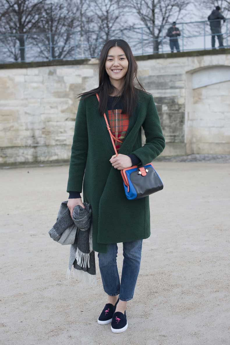 Liu-Wen-looked-casual-cool-outfit-felt-totally-relatable
