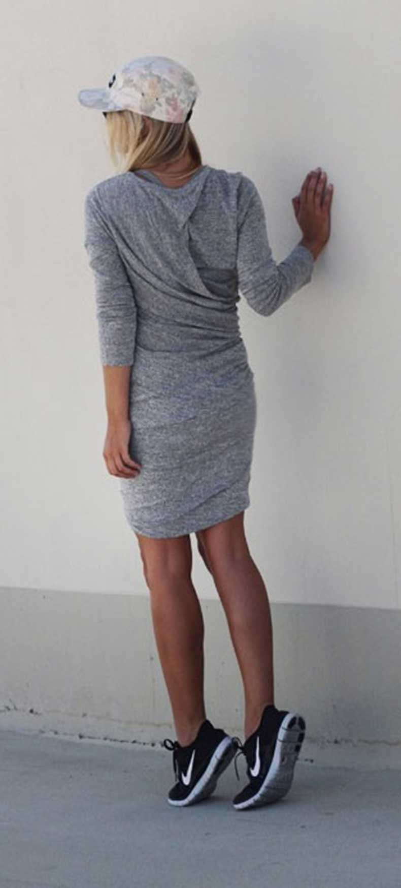Long-Sleeve-Dress-Nike-Sneakers-Outfit