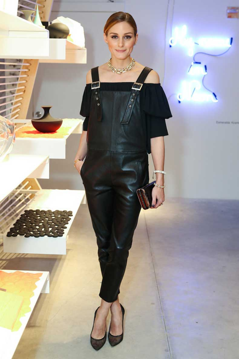 Meet-Your-Edgy-Leather-Overalls-Feminine-Blouse-Strike-Balance