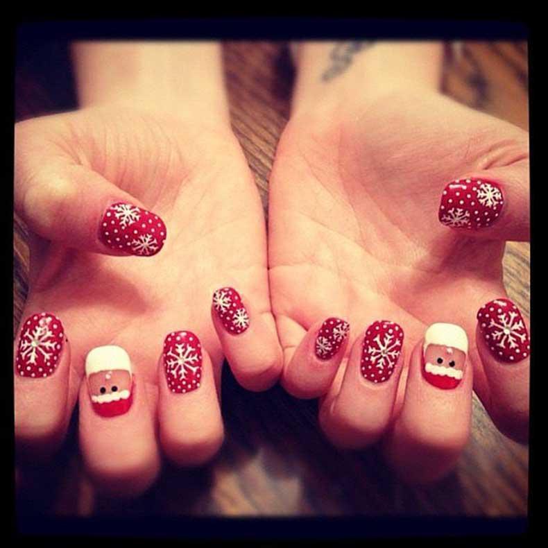 Santa-Snowflakes