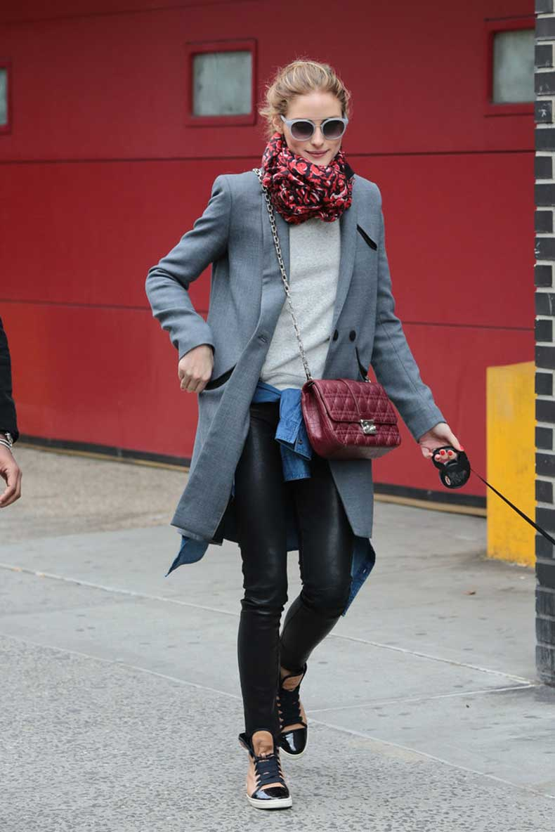 Top-Casual-Leather-Skinnies-Heather-Gray-Sweatshirt-Sophisticated-Blazer-Jacket